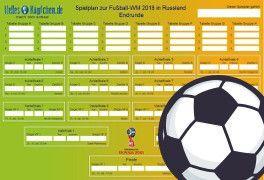 Fußball WM 2018: Spielplan Zum Ausdrucken