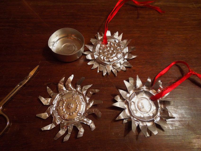 Basteln Mit Teelichter upcycling basteln zu weihnachten sternanhänger aus alten