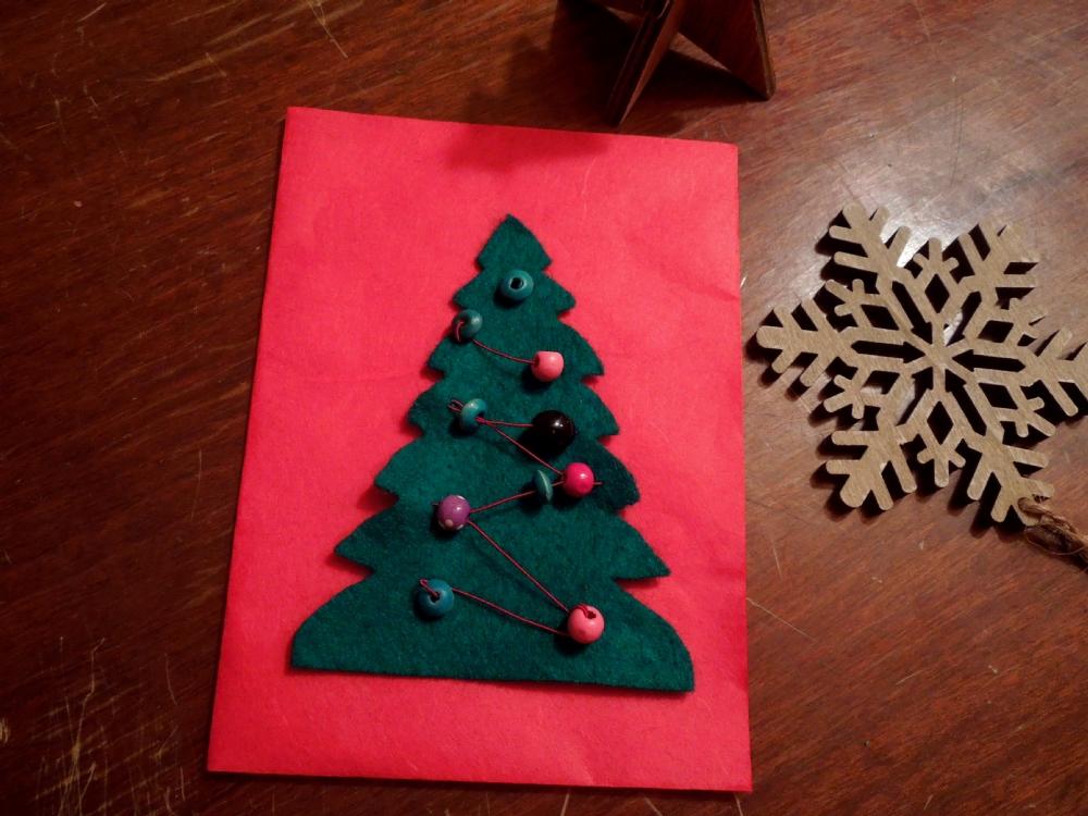 Lisas Erster Weihnachtsbaum.Schöne Bastelideen Für Selbst Gemachte Weihnachtskarten