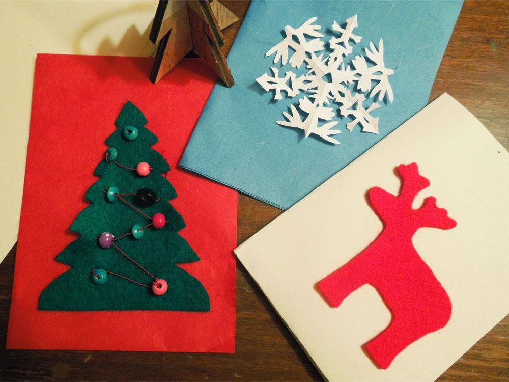 Schone Bastelideen Fur Selbst Gemachte Weihnachtskarten