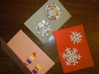 Gebastelte Weihnachtskarten.Schöne Bastelideen Für Selbst Gemachte Weihnachtskarten