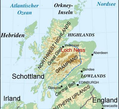 loch ness karte Schottland Loch Ness Karte | hanzeontwerpfabriek