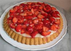 Schnelle Erdbeer Vanille Torte