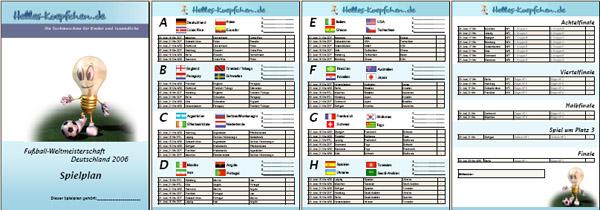 Wm 2006 Spielplan
