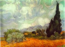 kornfeld mit zypressen malte van gogh im jahr 1889 - Van Gogh Lebenslauf