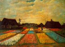 eines seiner frhen werke aus dem jahr 1883 es zeigt blumenbeete in holland vincent van gogh - Van Gogh Lebenslauf
