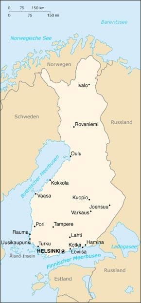 Finnland Karte Regionen.Finnland