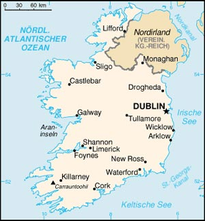 Irland Karte Städte.Irland