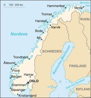 Karte Norwegen Mit Polarkreis.Norwegen Einfach Erklärt
