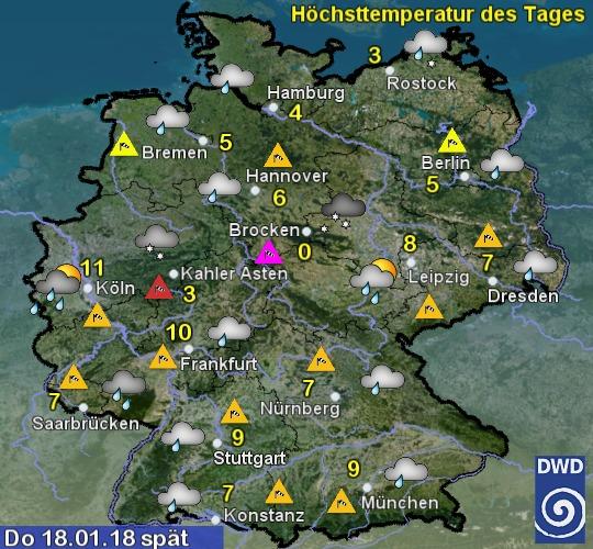 Wetterkarte Morgen